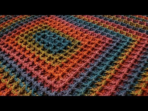 The Rectangle Waffle Blanket Crochet Tutorial!