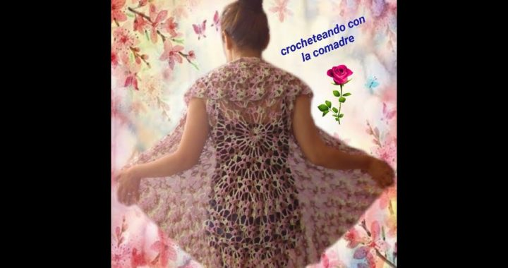 Tutorial Chaleco Mandala Dia de las Madres fácil y rapido 1ra parte Crocheteando con la Comadre