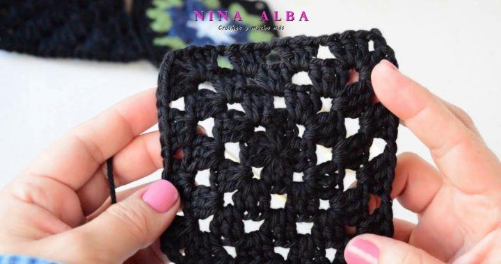 Tutorial Crochet - Cómo hacer el Granny Square Básico paso a paso.