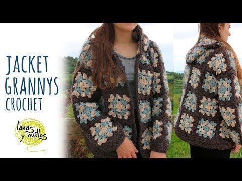 Tutorial Crochet Jacket Granny Squares