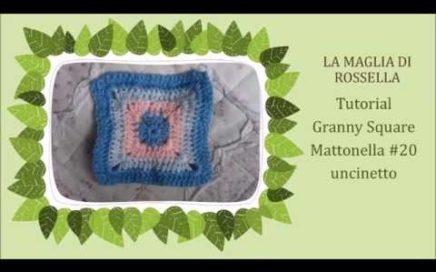 Tutorial Piastrella Granny Square Mattonella #20