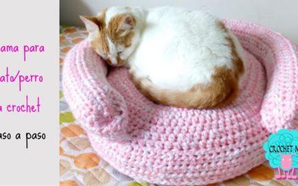 Tutorial cama para gato/perro a crochet