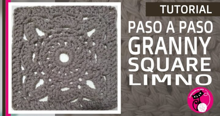 Tutorial crochet GRANNY SQUARE: Limno. En CASTELLANO! Paso a paso. FÁCIL