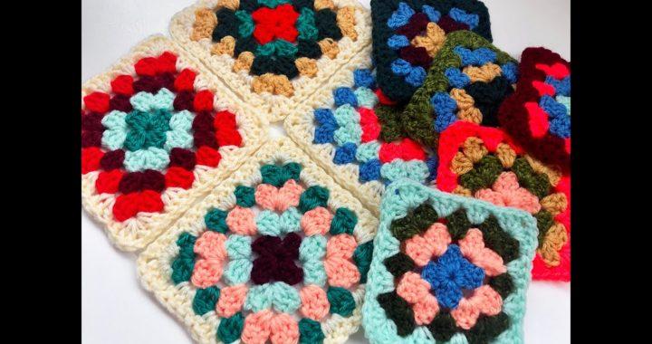 "Tutorial de crochet ""Granny Squares"" en español"