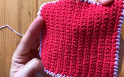 Tutorial punto cangrejo a crochet, curso básico para principiantes.