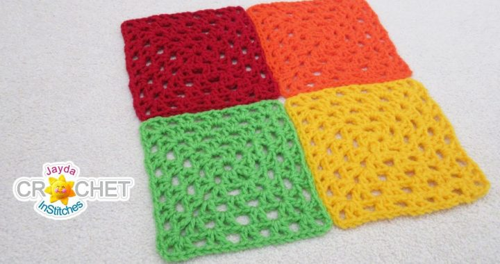 V Stitch Granny Square Crochet Pattern & Tutorial For Beginners