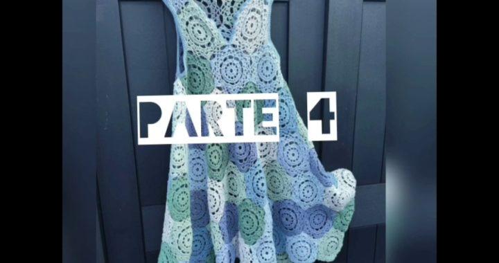 Vestido calado tejido con hexágonos, aprender a leer y tejer patrones para principiantes