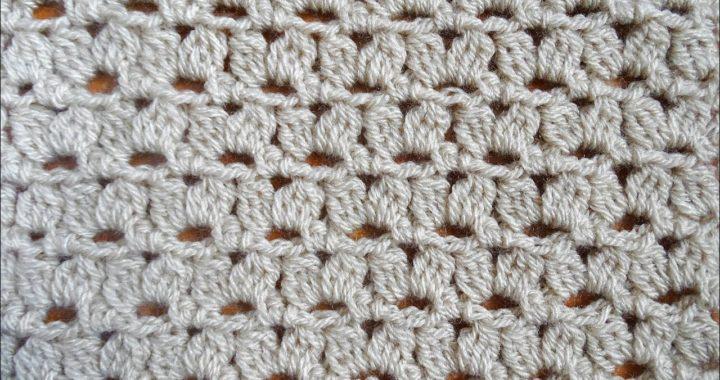 Warm Crochet Stitch Pattern - Crochet V Stitch Cluster Stitch - Right Handed Crochet Tutorial