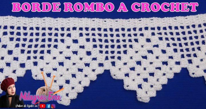 ZURDOS Borde, Orilla o Cenefa en facil de tejer a crochet para mantitas, toallas, cubrecamas o blusa