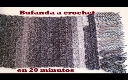 bufanda a crochet - tutorial - ganchillo - tejido - para hombre