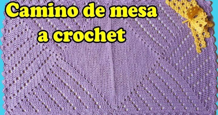 camino de mesa a crochet / paso a paso / facil y rapido / crochet table runner tutorial