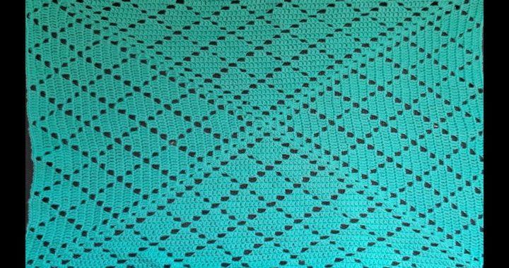 como tejer cuadro a crochet o granny square - tutorial para zurdos