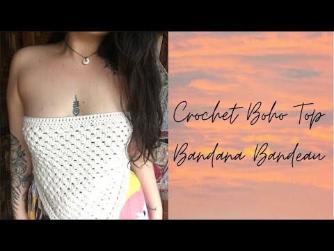 crochet boho top | DIY scarf top | easy bandana bandeau