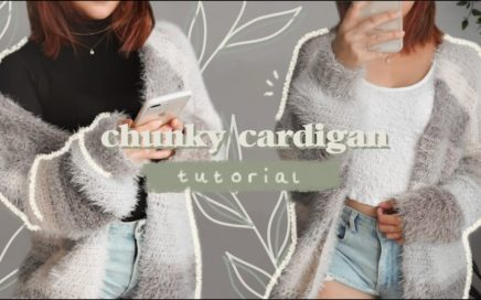 🌱 easy chunky cardigan tutorial // crocheting a cardigan for the first time ✨