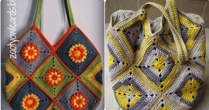 easy to made hand knitted crochet granny square long bags for women's/passenger bags#2021