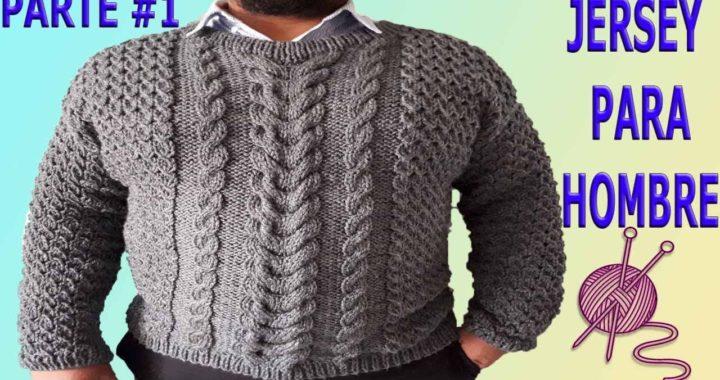sueter para hombre tejido en dos agujas parte #1 / knitting sweater