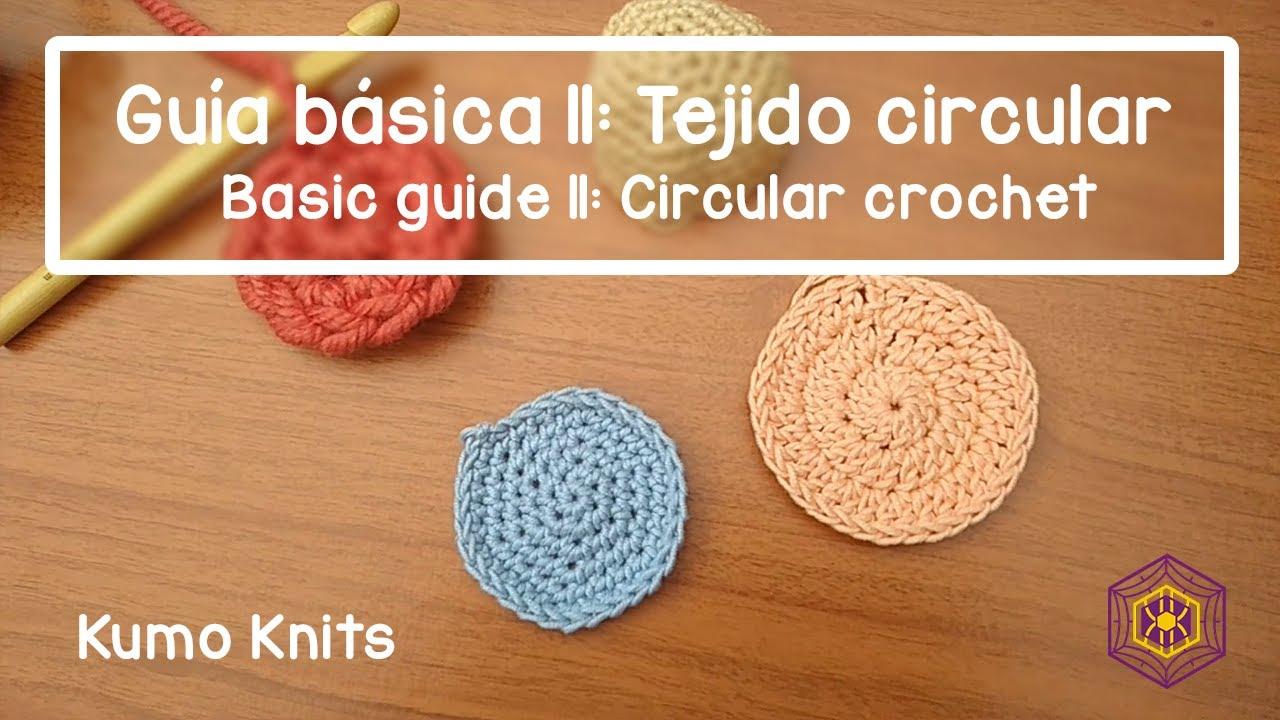 ¿Cómo hacer el anillo mágico y círculos tejidos con ganchillo?//tejido circular a crochet