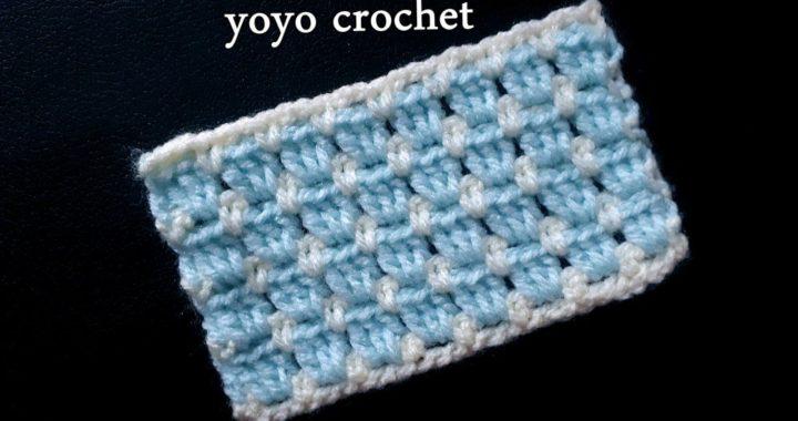 كروشية غرزة البلوك سهلة وبسيطة للمبتدئين  - block crochet stitch for beginners#يويو كروشية