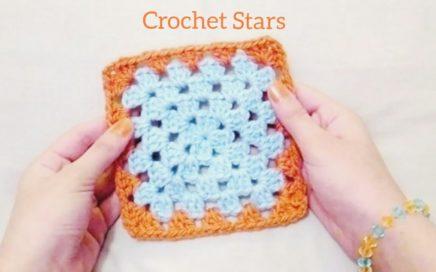 كروشية مربع الجراني   Crochet Granny Square   Crochet Stars