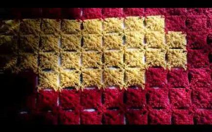 1°parte. Super tapete de crochet feito em esquema de pixel #artesanatoskiharu