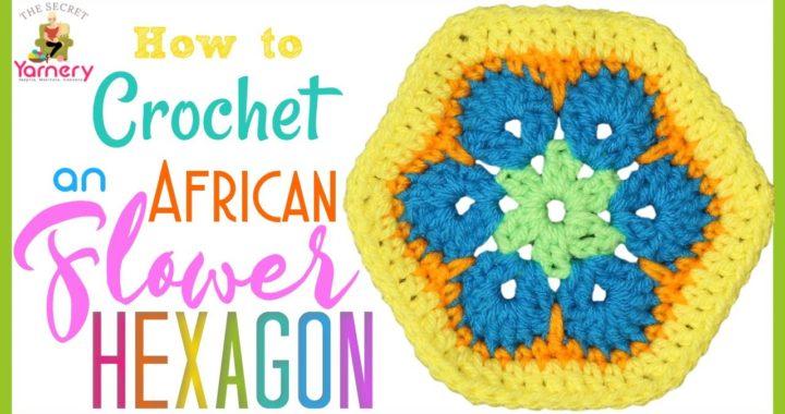 African Flower Hexagon Crochet Pattern 🌺 Easy DIY Flower Hexagon Pattern