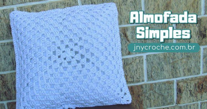 Almofada de crochê simples e fácil para iniciantes - JNY Crochê