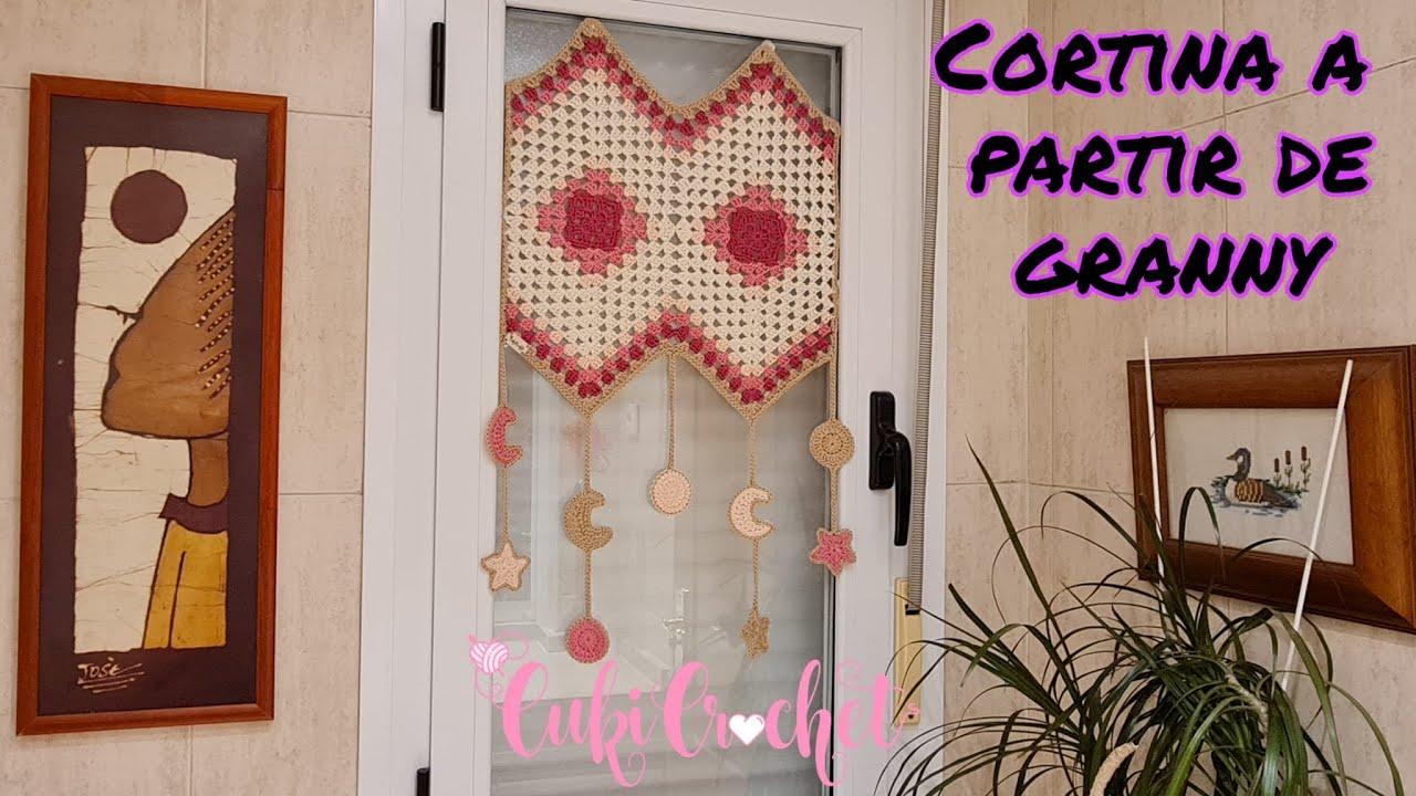 Aplicación del Granny Cuadrado VERSUS Rombo convertido en cortina.