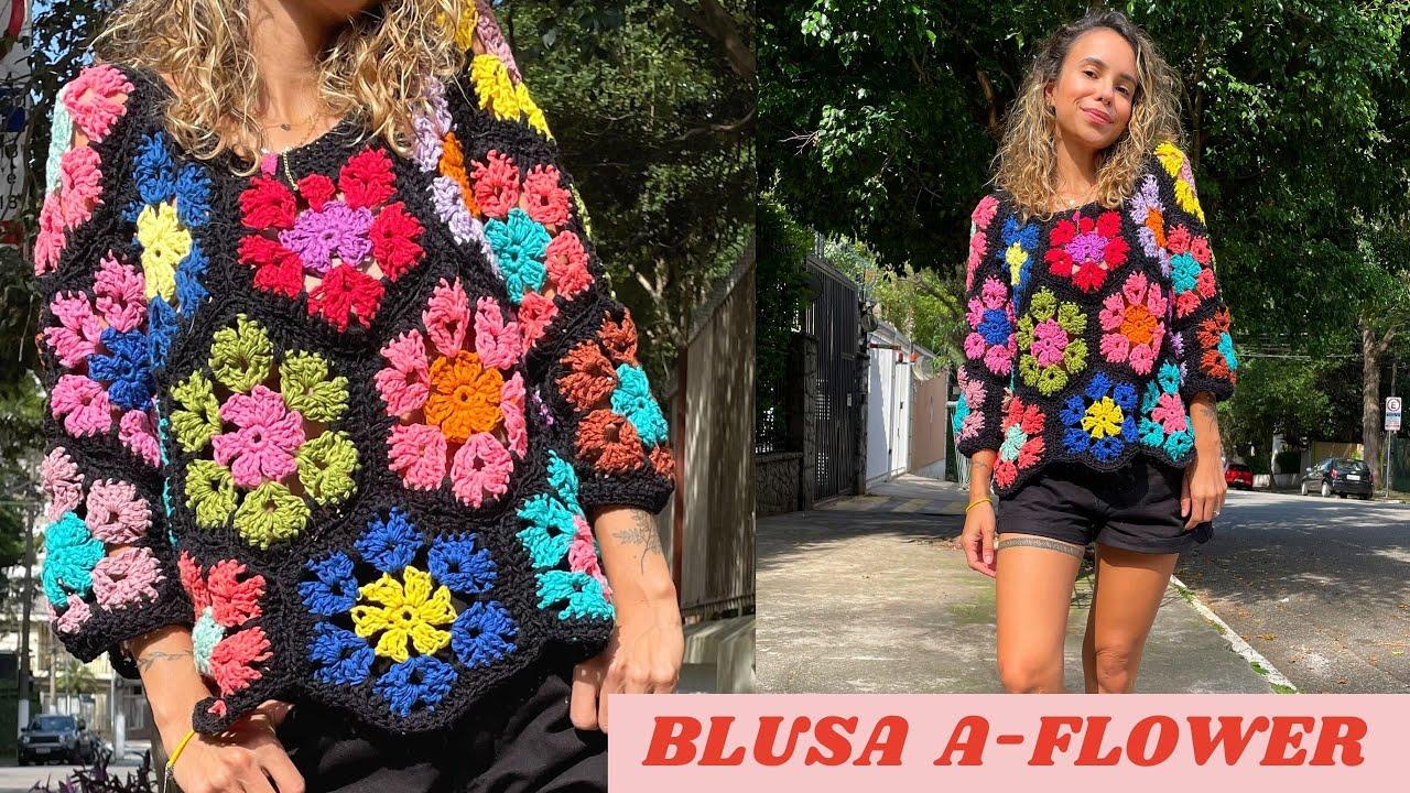 BLUSA A-FLOWER CROCHÊ - TUTORIAL PASSO A PASSO