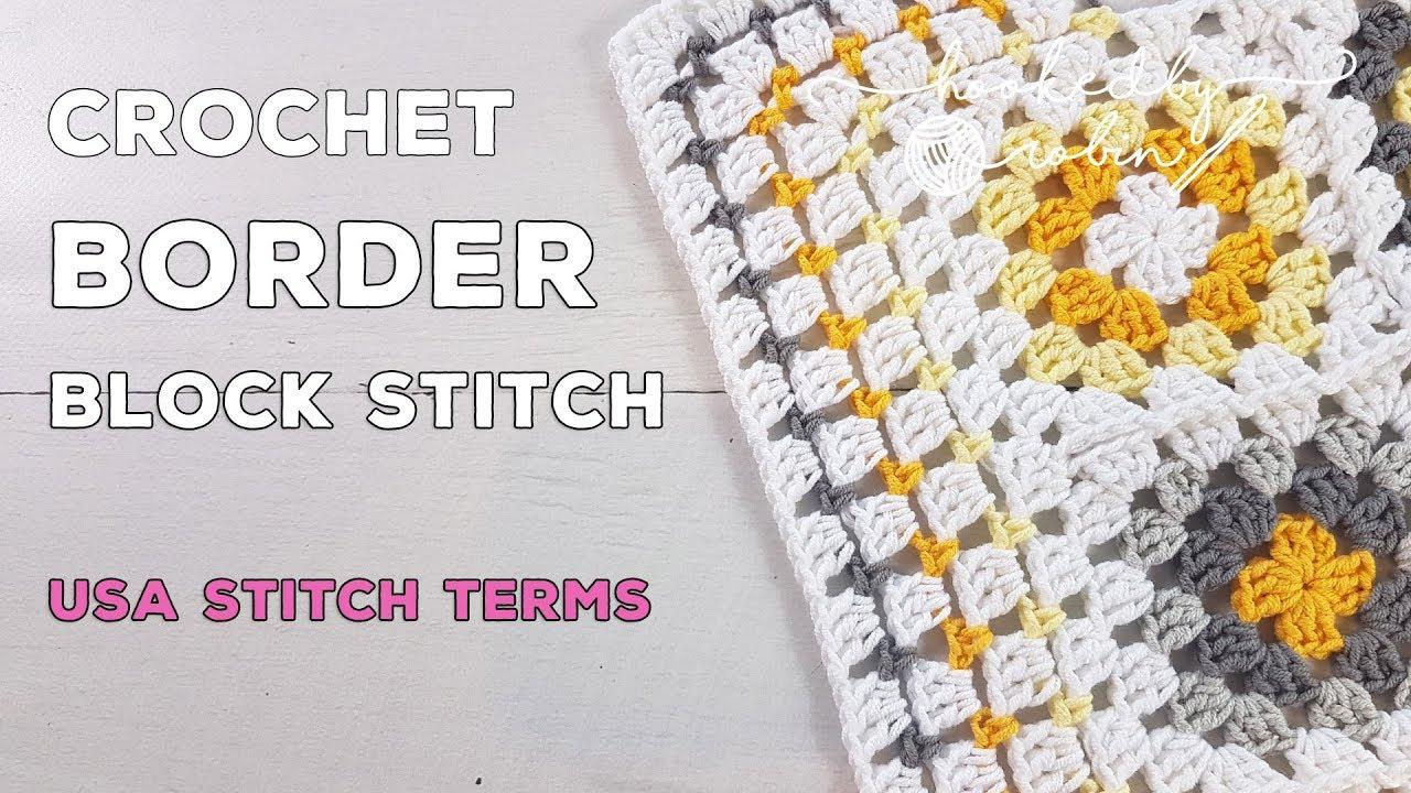 Block Stitch Crochet Border Tutorial (Easy, Simple & Quick!)