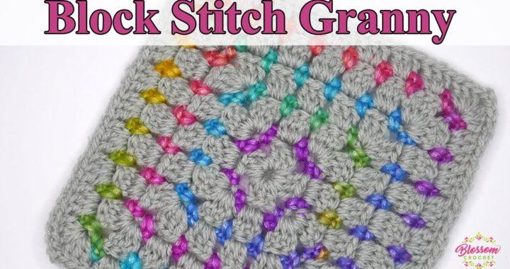 Block Stitch Granny Square - Simple Crochet Blanket