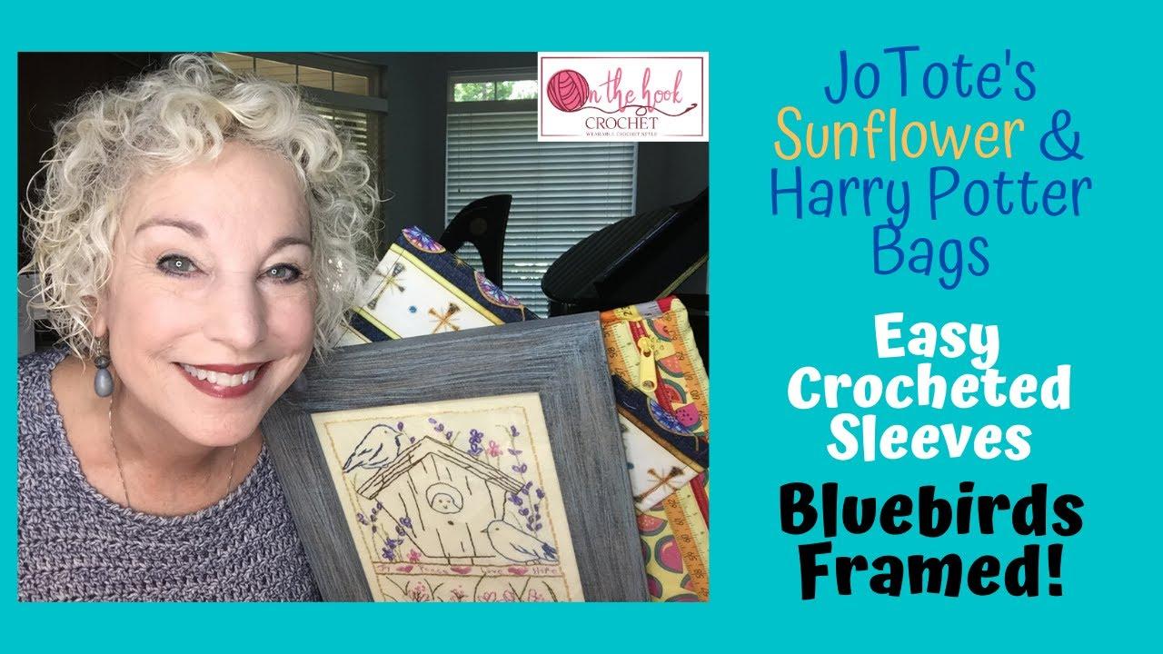 Bluebirds Are Framed!!  On The Hook Crochet