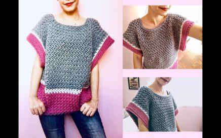 Blusa tejida a crochet para mujer ¡Paso a paso y muy fácil!