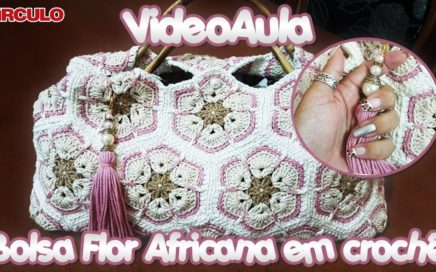 Bolsa Flor Africana em crochê