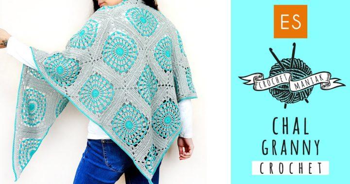 CHAL a crochet de granny square cuadrado y triangular ES