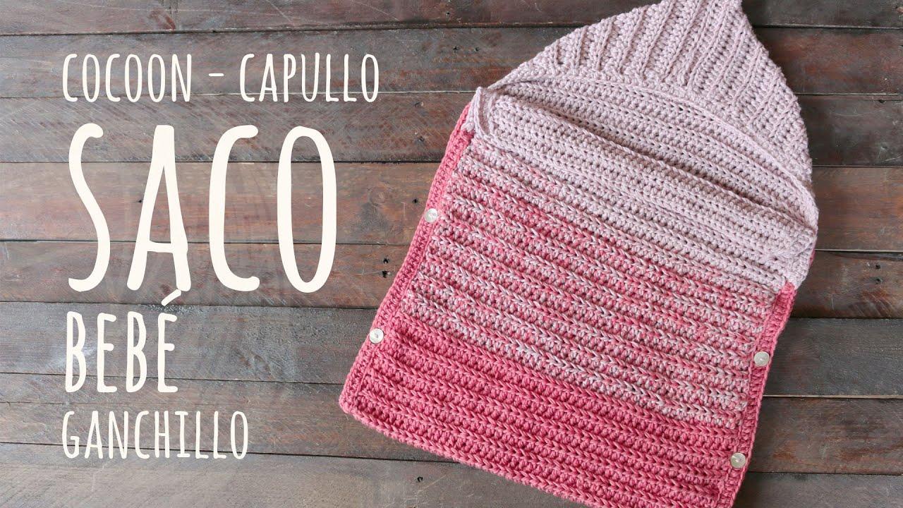 CÓMO TEJER UN SACO PARA BEBÉ FÁCIL Y RÁPIDO   Ganchillo - Crochet   LAnas y Ovillos