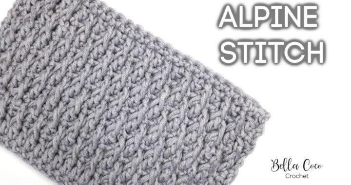 CROCHET: ALPINE STITCH | Bella Coco Crochet