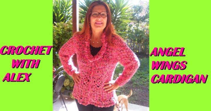 CROCHET CARDIGAN TUTORIAL ANY SIZE ANGEL WINGS STITCH PATTERN