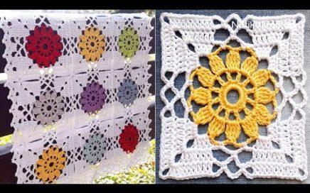 CROCHET EASY Crochet Granny Square Motif #2 How to join motifs