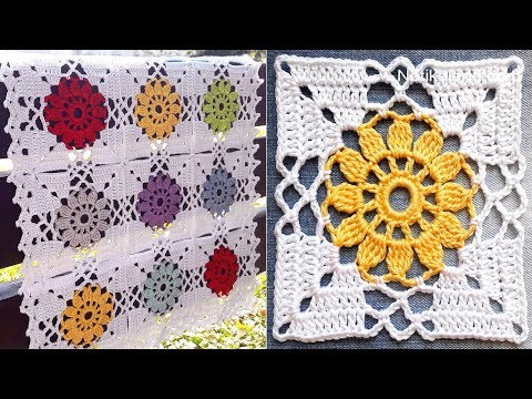 CROCHET EASY Crochet Granny Square Motif #2 How to join motifs