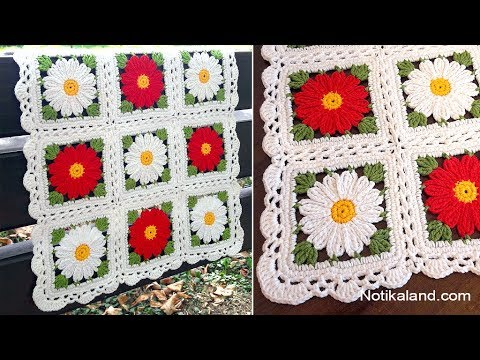 CROCHET EASY Crochet Granny Square Motif #3 Border