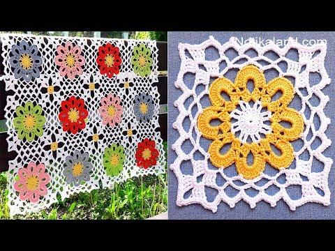 CROCHET EASY Crochet Granny Square Motif #3 How to join motifs