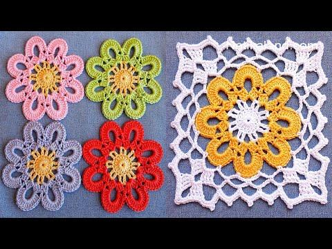 CROCHET EASY Crochet Granny Square Motif #3