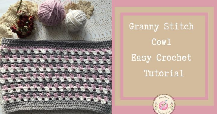 CROCHET: How To Crochet Granny Stitch Cowl Easy Tutorial by Loopy Mabel