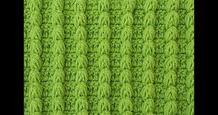 CROCHET STITCH OF COLUMNS IDEAL FOR BEGINNERS