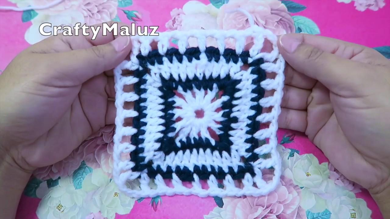 CROCHET TUTORIAL👉 How to Crochet Granny Square Cuadro a crochet paso a paso 👍 Aplicación de crochet