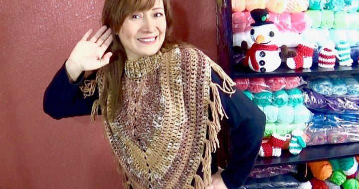 CUELLO EN PICO TEJIDO CON 1 TRIANGULO FACIL !! Tejido a crochet paso a paso