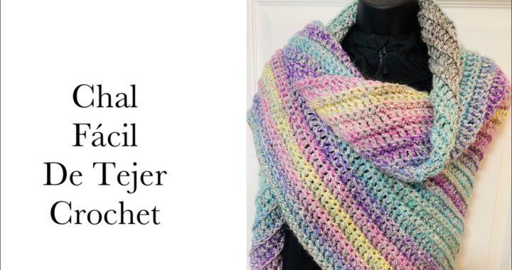 Chal a crochet paso a paso o Pashmina Bufanda tejida a Crochet FÁCIL PARA PRINCIPIANTES