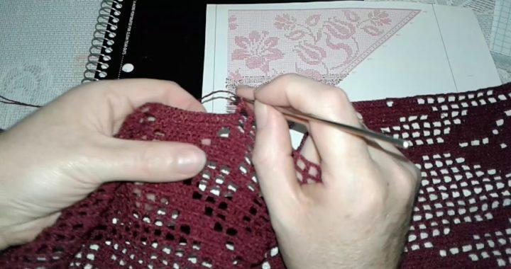 Chal de tulipanes en crochet muy fácil de hacer paso a paso (parte 12)