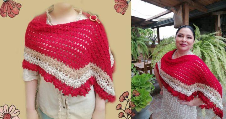 Chal elegante a crochet -FACIL para Todas las tallas _Manualidades