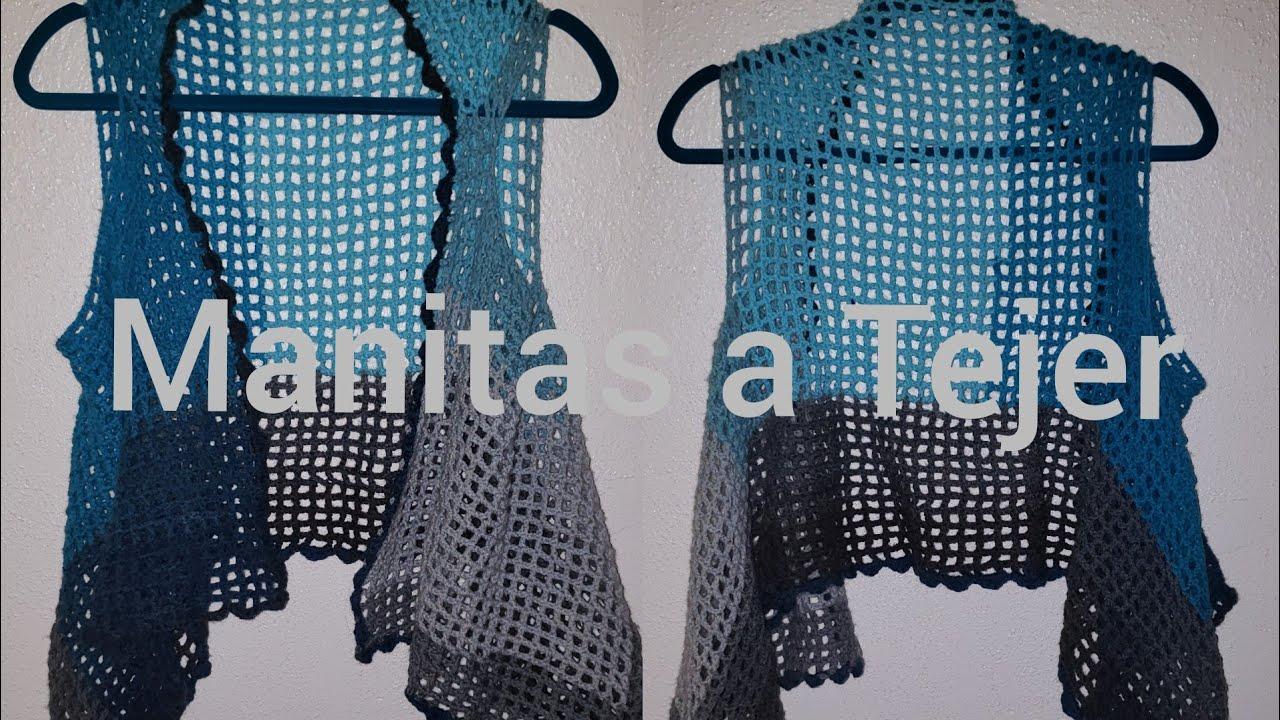 Chaleco fácil a Crochet para principiantes.. (punto malla)